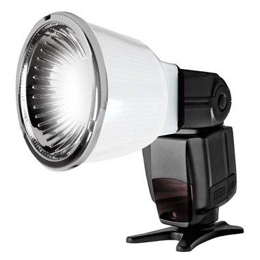 Universal Blitzdiffusor Lambency Cloud + Kit 3 Aufsätze für alle Blitzlichter : Canon Speedlite, Nikon Speedlight, Yongnuo, Nissin, Sony, Metz, Pentax, etc. Gratis dazu: ein Mikrofasertuch für die Optik. - 4