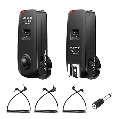 Neewer® FC-16 Mehrkanal 2.4GHz 3-IN-1 Funk Blitz - Studio Blitzauslöser mit Fernauslöser für Canon