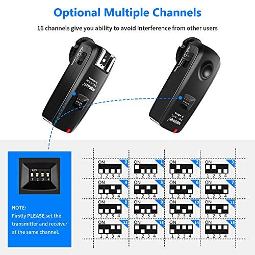 Neewer® FC-16 Mehrkanal 2.4GHz 3-IN-1 Funk Blitz / Studio Blitzauslöser mit Fernauslöser für Canon Rebel T3 XS T4i T3i T2i T1i Xsi EOS 1100D 1000D 700D 650D 600D 60D 550D 500D 450D 100D, EOS 1D Mark IV 1D Mark III 5D Mark III 5D Mark II 50D 40D 30D 20D 7D 5D 6D - 2
