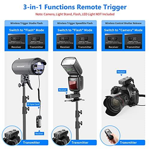 Neewer® FC-16 Mehrkanal 2.4GHz 3-IN-1 Funk Blitz / Studio Blitzauslöser mit Fernauslöser für Canon Rebel T3 XS T4i T3i T2i T1i Xsi EOS 1100D 1000D 700D 650D 600D 60D 550D 500D 450D 100D, EOS 1D Mark IV 1D Mark III 5D Mark III 5D Mark II 50D 40D 30D 20D 7D 5D 6D - 3