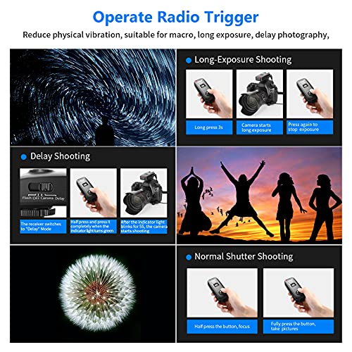 Neewer® FC-16 Mehrkanal 2.4GHz 3-IN-1 Funk Blitz / Studio Blitzauslöser mit Fernauslöser für Canon Rebel T3 XS T4i T3i T2i T1i Xsi EOS 1100D 1000D 700D 650D 600D 60D 550D 500D 450D 100D, EOS 1D Mark IV 1D Mark III 5D Mark III 5D Mark II 50D 40D 30D 20D 7D 5D 6D - 4