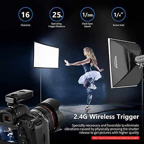 Neewer® FC-16 Mehrkanal 2.4GHz 3-IN-1 Funk Blitz / Studio Blitzauslöser mit Fernauslöser für Canon Rebel T3 XS T4i T3i T2i T1i Xsi EOS 1100D 1000D 700D 650D 600D 60D 550D 500D 450D 100D, EOS 1D Mark IV 1D Mark III 5D Mark III 5D Mark II 50D 40D 30D 20D 7D 5D 6D - 5