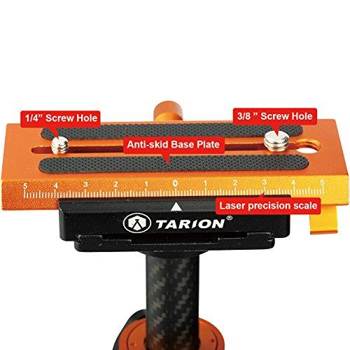 TARION S60T Schwebestativ Kohlefaser 60cm mit Schnellwechselplatte 1/4