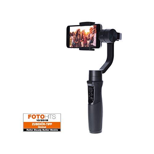 Rollei Smartphone Gimbal Steady Butler Mobile -3 Achsen Schwebestativ (Stabilisator/Steadycam) für Smartphones mit Integrierter Power Bank, inkl. App mit Vielen Funktionen - 2