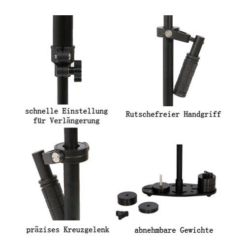 Tarion OS03565 Schwebestativ Stabilisator max bis 60 cm mit Gewicht DSLR Rig - 5