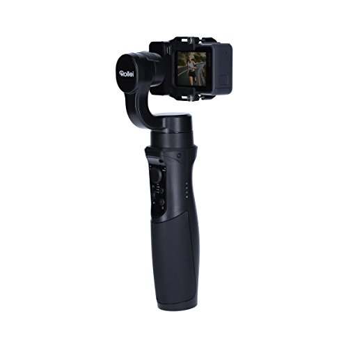 Rollei Actioncam Gimbal Steady Butler Action -3 Achsen Schwebestativ (Stabilisator/Steadycam) für Actioncams mit Integrierter Power Bank, Passend für GoPro Hero 6/5/4 und 3 Sowie Weitere Actioncams - 7