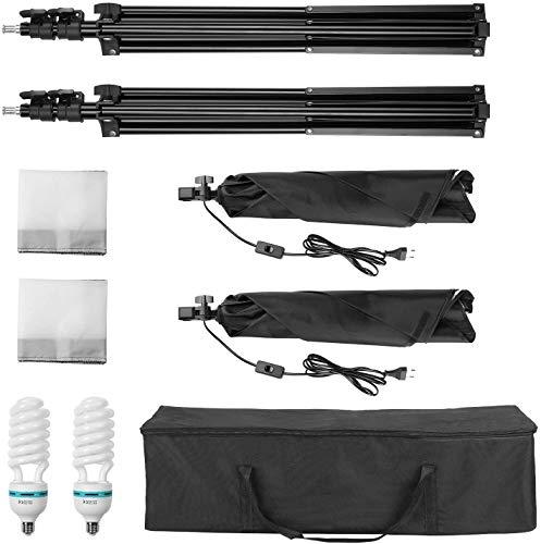 MVPower 60x60x60cm Fotostudio Set Fotozelt Lichtwürfel Ministudio mit 2 Stück 45W Studioleuchte und tragbarer Tasche - 6
