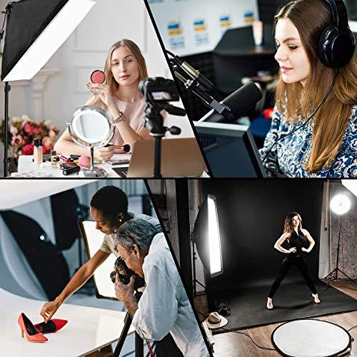 MVPower 60x60x60cm Fotostudio Set Fotozelt Lichtwürfel Ministudio mit 2 Stück 45W Studioleuchte und tragbarer Tasche - 7