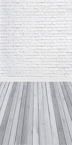 NIVIUS PHOTO® 150*300CM Grau holzboden Studio foto hintergrund Kulisse aus dünnem vinyl weiß ziegel für Neugeborenen Fotografie d-9713 - 6