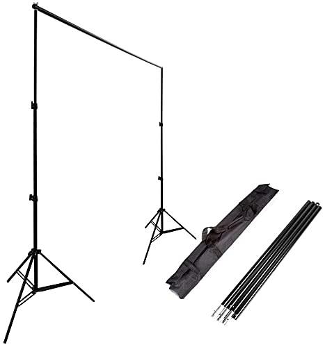 Ruili 2 x 3m Fotostudio Set Hintergrund Unterstützungssystem ständer Kit mit Tragetasche für Muslins Hintergrund, Papier and Canvas