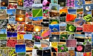 Die Werke der Digitalfotografie als Foto-Collage
